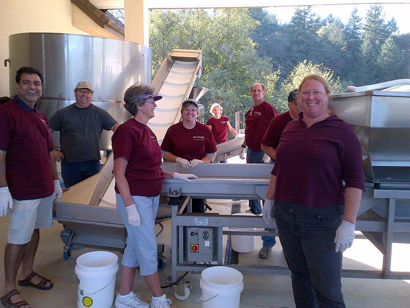 Oregon winemaking crew