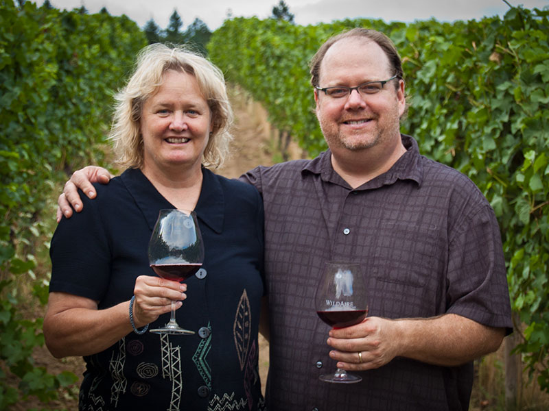 Matt and Jean Driscoll Oregon Winemakers Vineyard